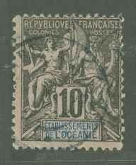French Polynesia 6 Used F