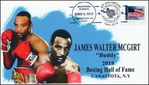 19-216, 2019, Boxing Hall Of Fame, Pictorial Postmark, Event Cover, James Walter