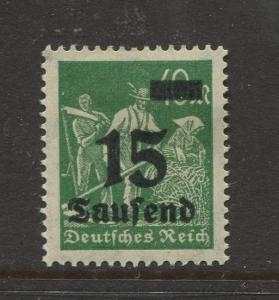 Germany -Scott 243- Definitive Issues -1923 -  MLH - Single 15th on a 40pf Stamp