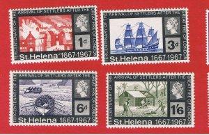 St. Helena  #197-200 MNH OG  Great Fire  Free S/H