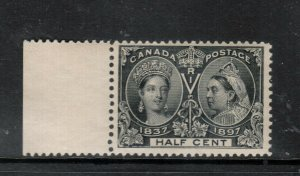 Canada #50 Very Fine Never Hinged Margin Copy **With Certificate**