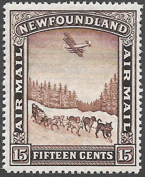 Newfoundland Airmail Stamp Scott Number C9 FVF H