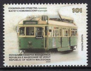 384 - NORTH MACEDONIA 2020 - Transportation - Tramway - MNH Set