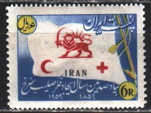 Iran. 1959. 1067 from the series. Red cross, medicine. MVLH.