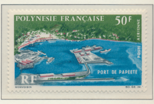 French Polynesia Stamp Scott #C-43, Mint Hinged - Free U.S. Shipping, Free Wo...