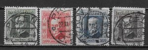 Czechoslovakia B133-36 Masaryk set Used (z1)