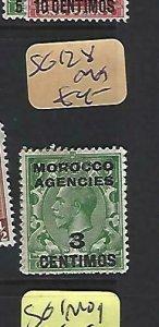 MOROCCO AGENCIES  (P2908B)  KGV  3C/ 1/2D  SG  128  MOG