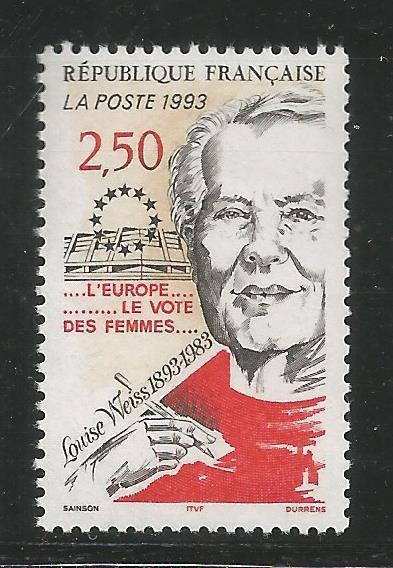 FRANCE  2361  MNH, LOUISSE WEISS (1893-1983),  SUFFRAGIST
