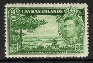 CAYMAN ISLANDS SG124 1938 2/= YELLOW-GREEN MTD MINT