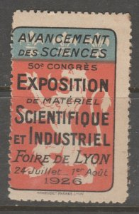 Cinderella revenue fiscal stamp 9-9-47 France Lyon - scarce 1926