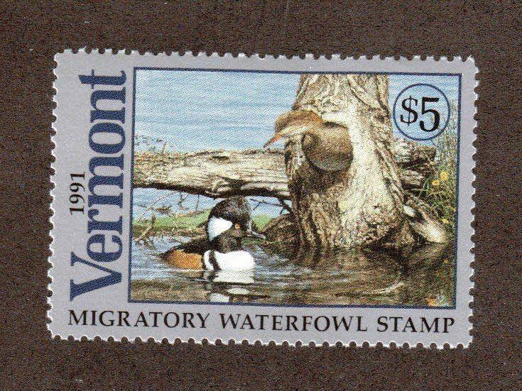 VT6 - Vermont  State Duck Stamp. Single. MNH. OG.  #02 VT6