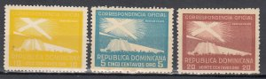 Dominican Republic, Sc O27-O29, MNH/MH, 1950, Proposed Lighthouse