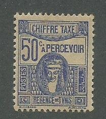 Tunisia Scott Catalog Number J20 Issued in 1945 Unused Never Hinged