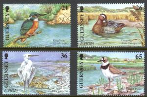 Guernsey Sc# 732-735 MNH 2001 Birds