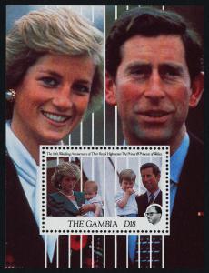 Gambia 1089 MNH Prince Charles, Princess Diana, Princes William & Harry
