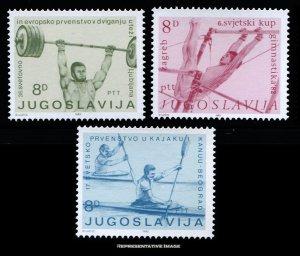 Yugoslavia Scott 1576-1578 Mint never hinged.
