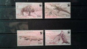 Indonesia MNH 1911-4 Komoda Dragons WWF