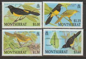 Montserrat SG 885 - 888 set of 4  MLH - Birds