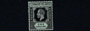 LEEWARD ISLANDS  1931 - 32  SG  87 1/-  VALUE  MH  REVERSION TO DIE 1 CAT  £60