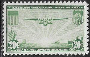 US C21 Unused/Hinged - The China Clipper over the Pacific