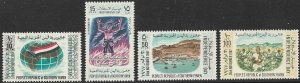 YEMEN PDR SOUTHERN 1968 INDEPENDENCE DAY Set Sc 15-18 MNH