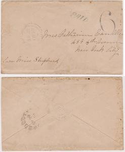 Canada to USA 1870 Stampless Covr HS PAID & 6 Morrisburg/UC SP 28/1870 to NY