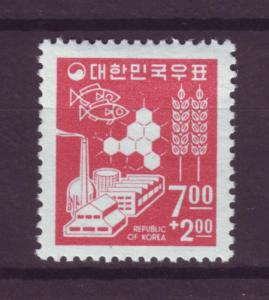 J1400 jls stamps 1966 korea mlh set/1 #b8, $6.00 scv