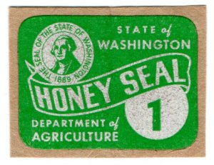 (I.B) US Revenue : Honey Seal 1c (Washington State)