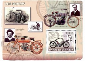 Comoro Islands Stamps Sc#1006 - (2008) - S/Sheet - Automobiles - MNH