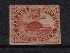 Canada #4 Mint Unused Artfully Regummed And Hidden Repaired Tear