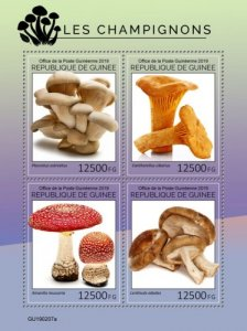 GUINEA - 2019 - Mushrooms - Perf 4v Sheet - M N H