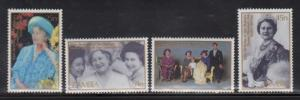 Zambia 327-30 Queen Mother Birthday Mint NH