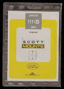Scott/Prinz Plate Number Coil Strips Stamp Mounts Size: 111x25 Clear #985 C