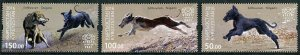 HERRICKSTAMP NEW ISSUES KYRGYZSTAN-KEP Sc.# 24-26 Hunting Dogs