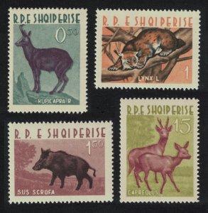 Albania Chamois Lynx Wild boar Roe deer Wild Animals Fauna 4v 1962 MNH