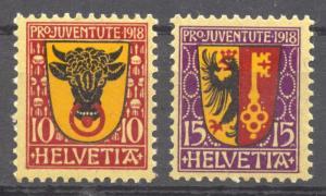 Switzerland, 1918 Pro Juventute 13 MNH set of 2, no faults