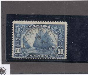 CANADA # 158  VF-USED  50cts  BLUENOSE/MONTREAL TOWN CANCEL/BLUE CAT VALUE $90