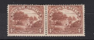 J28444, 1927-8 south africa mh pair #28 perf type 14x131/2 view