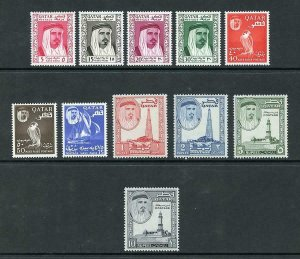 Qatar SG27/37 1961 Set of 11 M/M Cat 120 Pounds
