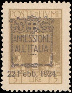Fiume #196-207, Complete Set(12), 1923, Hinged, Some with Thins