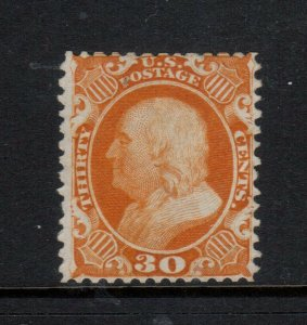 USA #46 Very Fine Mint Unused (No Gum) Reperfed At Top & Bottom **With Cert.**