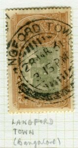 INDIA; POSTMARK fine used cancel on GV issue, Langford Town