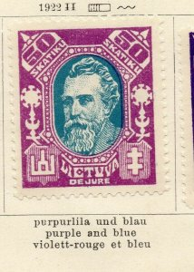 Lithuania 1922 Issue Fine Mint Hinged 50sk. NW-06139