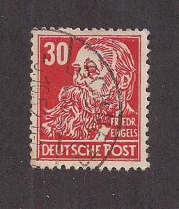 GERMANY - DDR SC# 130 F-VF U 1953