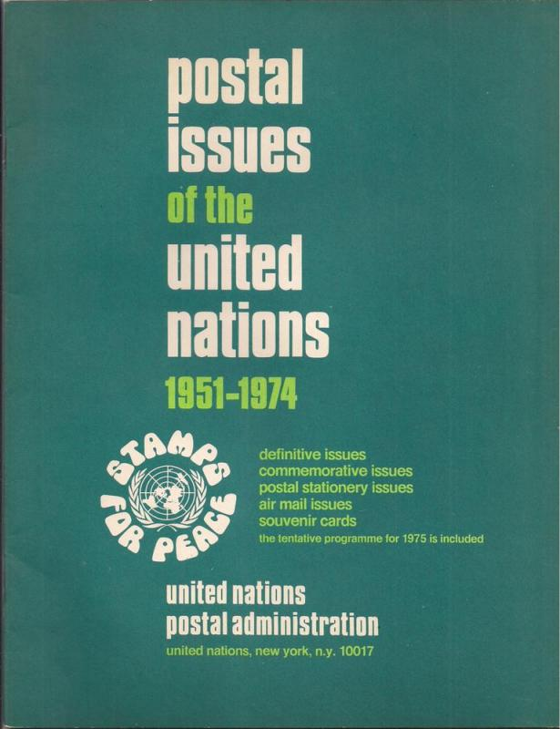 UNPA book: Postal Issues of the United Nations USEFUL BOOK!