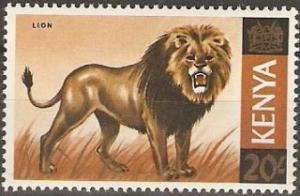 1966 Kenya Scott 35 Lion MNH