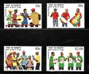 St. Kitts-Sc#465-8-Unused NH set-Music-Christmas-1999-