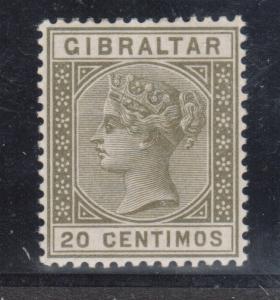 Gibraltar #31 (SG #25a) VF Mint Variety
