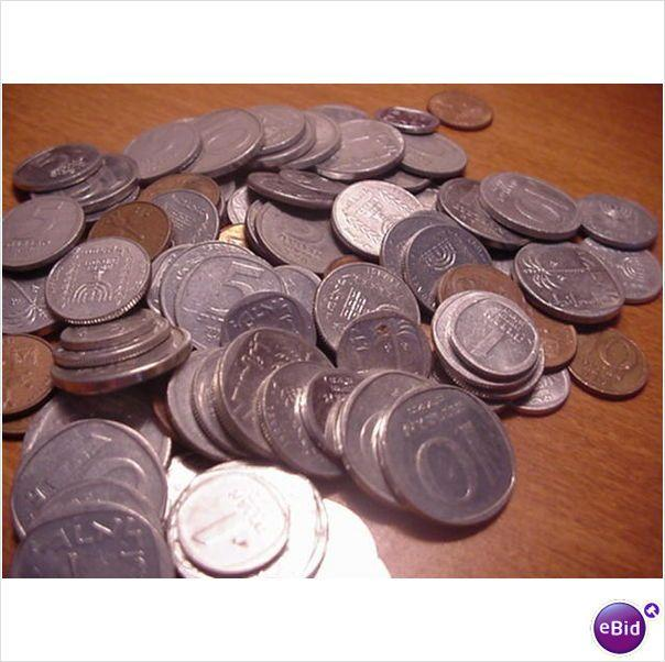 50-mix lot of israel coins
