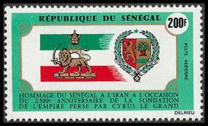 Senegal #C104 MNH 2500th Anniv Persia/Flag/Coat of Arms CV$3 [189336]
